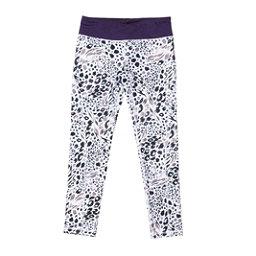 686 Serenity 1st Layer Girls Long Underwear Bottom, Grey Animal-Violet, 256