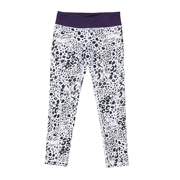 686 Serenity 1st Layer Girls Long Underwear Bottom, Grey Animal-Violet, 600