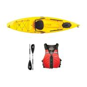 Ocean Kayak Tetra 10 Yellow Kayak - Sport Package, Red, medium