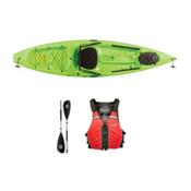 Ocean Kayak Tetra 10 Envy Green Kayak - Sport Package, Red, medium