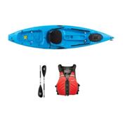 Ocean Kayak Tetra 10 Surf Blue Kayak - Sport Package, Red, medium
