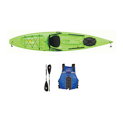 Ocean Kayak Tetra 12 Envy Green Kayak - Sport Package 2016, , viewer