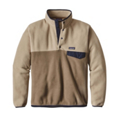 Patagonia Lightweight Synchilla Snap-T Mens Mid Layer, Ash Tan, medium