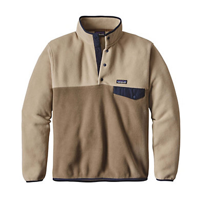 Patagonia Lightweight Synchilla Snap-T Mens Mid Layer, Ash Tan, viewer