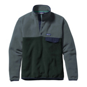 Patagonia Lightweight Synchilla Snap-T Mens Mid Layer, Carbon, medium