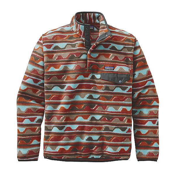 Patagonia Lightweight Synchilla Snap-T Mens Mid Layer, Delta-Cinder Red, 600