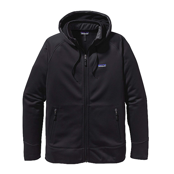 Patagonia Tech Fleece Mens Hoodie, Black-Black, 600
