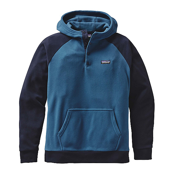 Patagonia Micro D Fleece Mens Hoodie, Glass Blue, 600