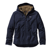Patagonia Lined Canvas Mens Hoodie, Navy Blue, medium