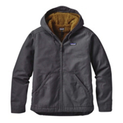 Patagonia Lined Canvas Mens Hoodie, Forge Grey, medium