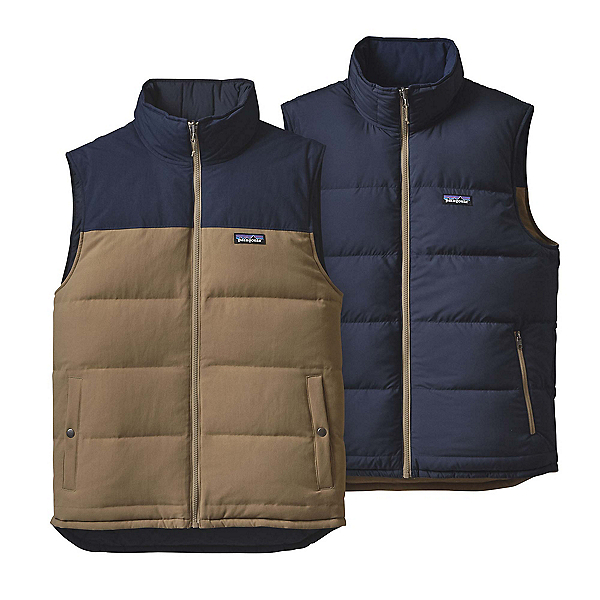 Patagonia Reversible Bivy Down Mens Vest, Ash Tan, 600