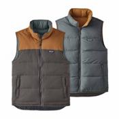 Patagonia Reversible Bivy Down Mens Vest, Forge Grey-Bear Brown, medium