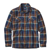 Patagonia Fjord Mens Flannel Shirt, Blue Ox-Navy Blue, medium