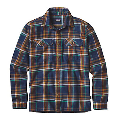 Patagonia Fjord Flannel Shirt, Blue Ox-Navy Blue, viewer