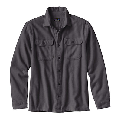 Patagonia Fjord Mens Flannel Shirt, Blue Ox-Navy Blue, viewer