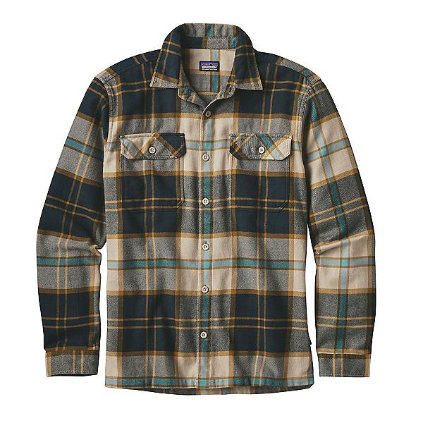 Patagonia Fjord Mens Flannel Shirt, Sugar Pine-El Cap Khaki, 600
