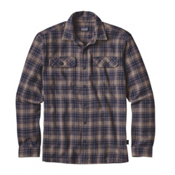Patagonia Fjord Mens Flannel Shirt, Valley Oak-Navy Blue, medium