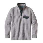Patagonia Cotton Quilt Snap-T Pullover Womens Mid Layer, Drifter Grey, medium