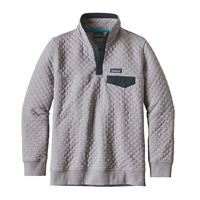Patagonia Cotton Quilt Snap-T Pullover Womens Mid Layer, Drifter Grey, viewer