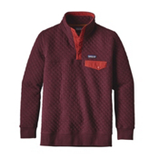 Patagonia Cotton Quilt Snap-T Pullover Womens Mid Layer, Violet Red, medium