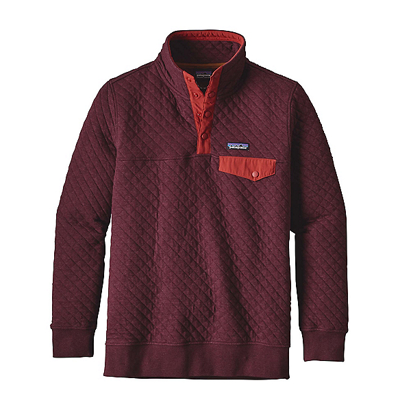 Patagonia Cotton Quilt Snap-T Pullover Womens Mid Layer, Violet Red, 600