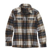 Patagonia Fjord Womens Flannel Shirt, Tree Crown-Carbon, medium