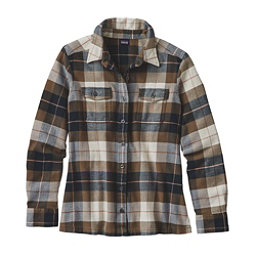 Patagonia Fjord Womens Flannel Shirt, Tree Crown-Carbon, 256