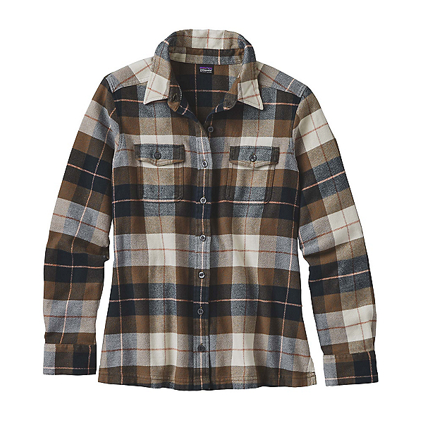 Patagonia Fjord Womens Flannel Shirt, Tree Crown-Carbon, 600