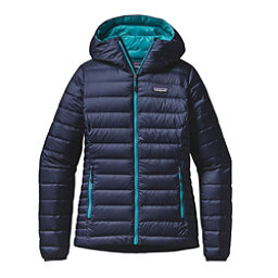 Patagonia Down Sweater Hoody Womens Jacket, Navy Blue-Epic Blue, 256