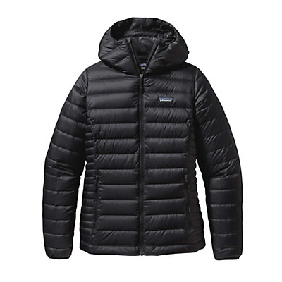 Patagonia Down Sweater Hoody Womens Jacket, Black, viewer