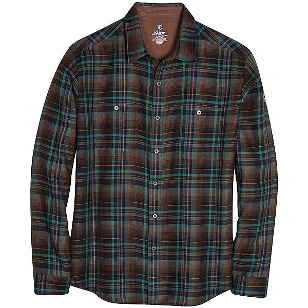 KUHL Fugitive Mens Flannel Shirt, Mint Chocolate Chip, 600