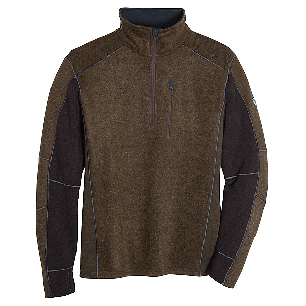 KUHL Interceptr 1/4 Zip Mens Sweater, Olive, 600