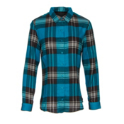 KUHL Ophelia Womens Flannel Shirt, Turkish Sea, medium