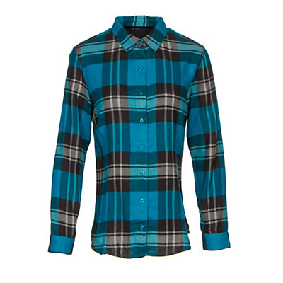KUHL Ophelia Womens Flannel Shirt, Turkish Sea, viewer