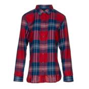 KUHL Ophelia Womens Flannel Shirt, Red Spice, medium