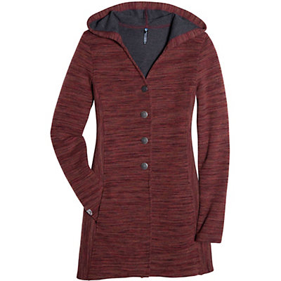 KUHL Isla Long Womens Sweater, Red Spice, viewer