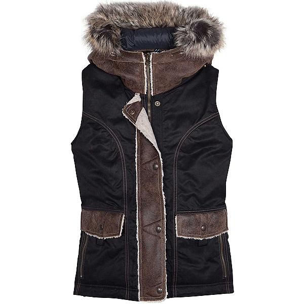 KUHL Arktik Down w/ Faux Fur Womens Vest, Raven, 600