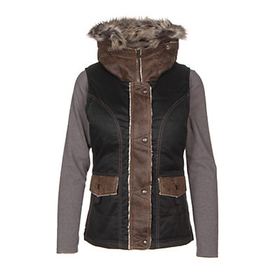 KUHL Arktik Down w/ Faux Fur Womens Vest, Raven, viewer
