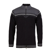 Dale Of Norway Nordlys Masculine Mens Sweater, Black-Off White-Schiefer, medium