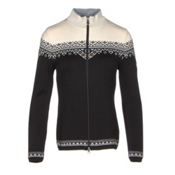 Dale Of Norway Nordlys Womens Sweater, Black-Metal Grey-Off White, medium