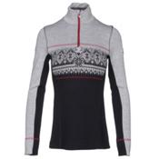 Dale Of Norway Rondane Feminine Womens Sweater, Navy-White Melange-Raspberry, medium