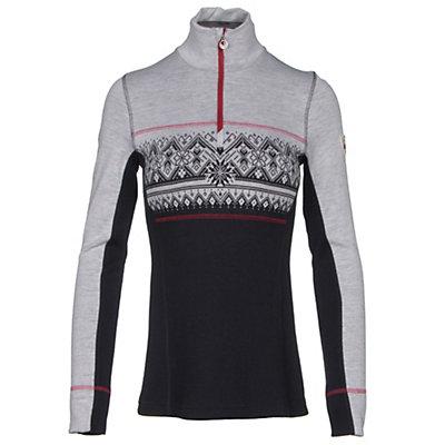 Dale Of Norway Rondane Feminine Womens Sweater, Navy-White Melange-Raspberry, viewer