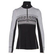 Dale Of Norway Rondane Feminine Womens Sweater, Black-White Melange, medium