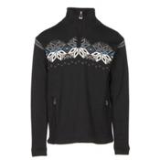 Dale Of Norway Snetind Masculine Mens Sweater, Black-Off White-Cobalt-Smoke, medium