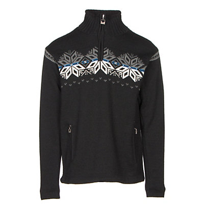 Dale Of Norway Snetind Masculine Mens Sweater, Black-Off White-Cobalt-Smoke, viewer