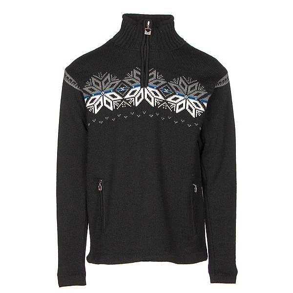 Dale Of Norway Snetind Masculine Mens Sweater, Black-Off White-Cobalt-Smoke, 600