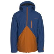 Quiksilver Mission Colorblock Mens Insulated Snowboard Jacket, Sodalite Blue, medium