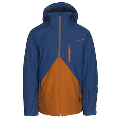 Quiksilver Mission Colorblock Mens Insulated Snowboard Jacket, Navy Blazer, viewer