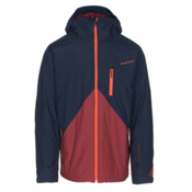 Quiksilver Mission Colorblock Mens Insulated Snowboard Jacket, Navy Blazer, medium