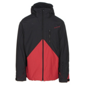 Quiksilver Mission Colorblock Mens Insulated Snowboard Jacket, Black, medium